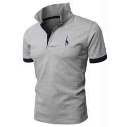 mens fine cotton giraffe polo shirts apparel accessories t